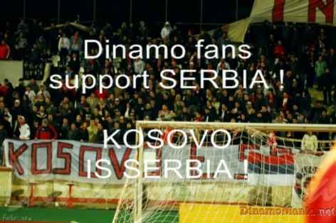 Dinamo Fans Support Serbia !