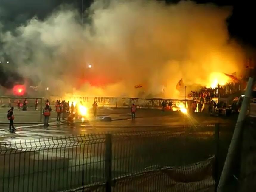 Dinamo-Steaua 17.10.2010 PCH Spectacol pirotehnic