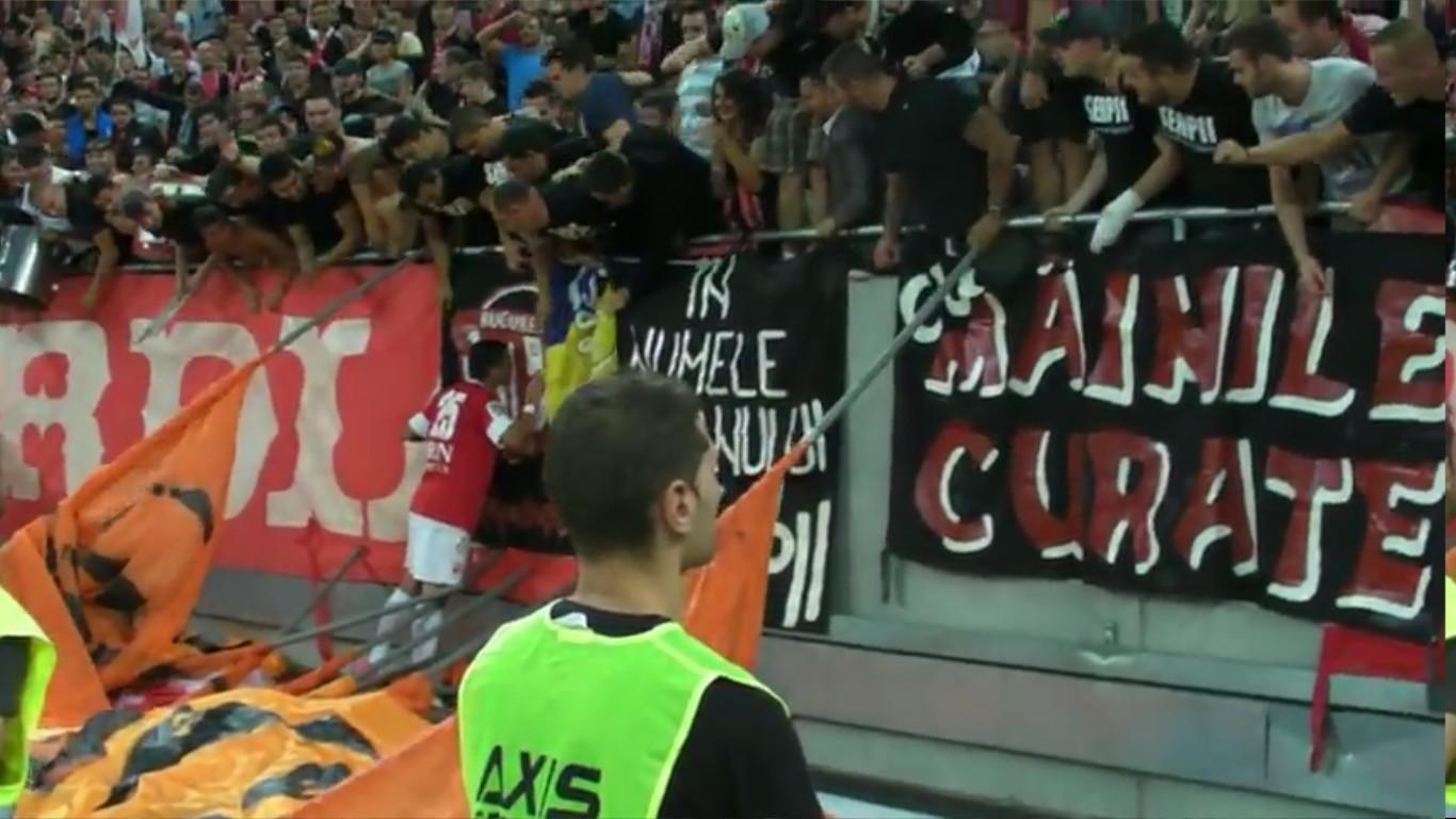 Dinamo - Pandurii - Bucurie la golul 3 si gestul lui Danciulescu