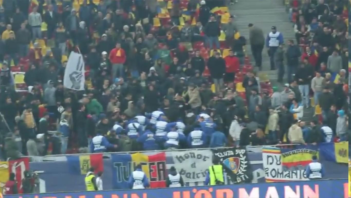 Abuzuri la amicalul Romania - Belgia  - 14.11.2012